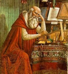 Saint-Jerome-in-His-Study-Domenico-Ghirlandaio