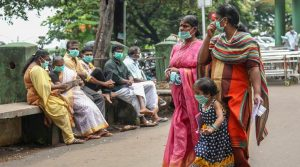 Kozhikode: People wear safety masks as a precautionary measure after the 'Nipah' virus outbreak, at Kozhikode Medical College, in Kerala, on Friday. (PTI Photo)(PTI5_25_2018_000111A)